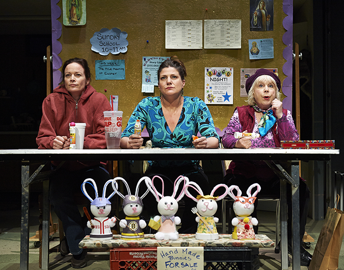 """(L-R) Kate Hodge, Elizabeth Rich & Denny Dillon appear in Cleveland Playhouse' production of """"Good People."""""""