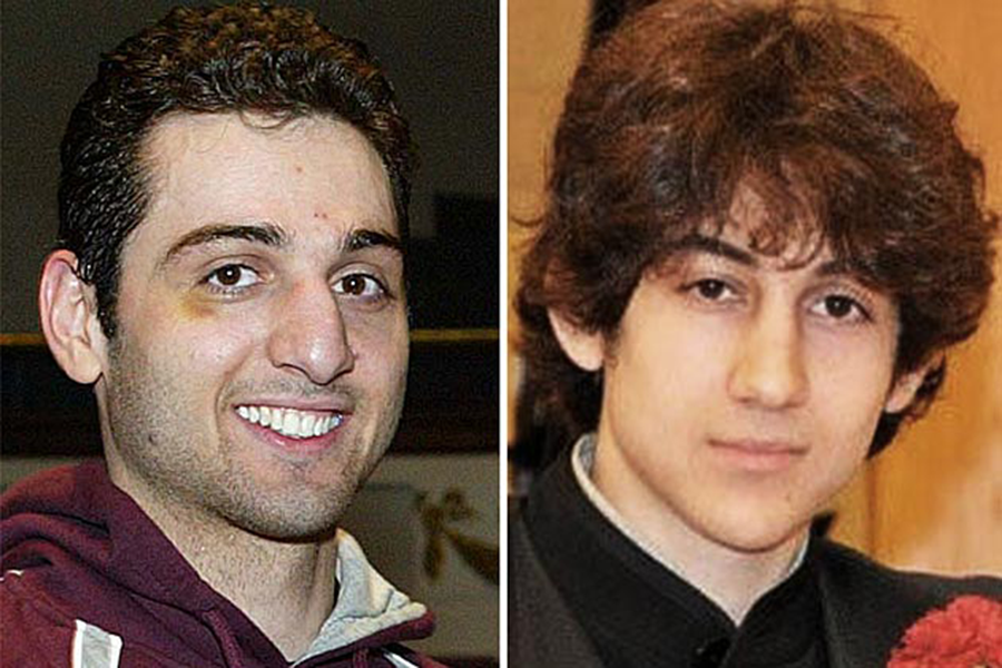 Brothers Tamerlan Tsarnaev, 26, and Dzhokhar Tsarnaev, 19, are suspects in the Boston Marathon bombing. Tamerlan was killed in a shootout after a high speed pursuit by police. Dzhokhar escaped, but was found hiding in a boat in a backyard in Boston.