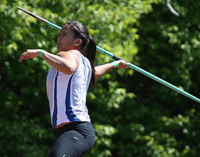 Senior Emily Tran took home the javelin throw title at the Marv Frye Invitational.  Tran won the event by seven feet with a distance of 113.25 feet.