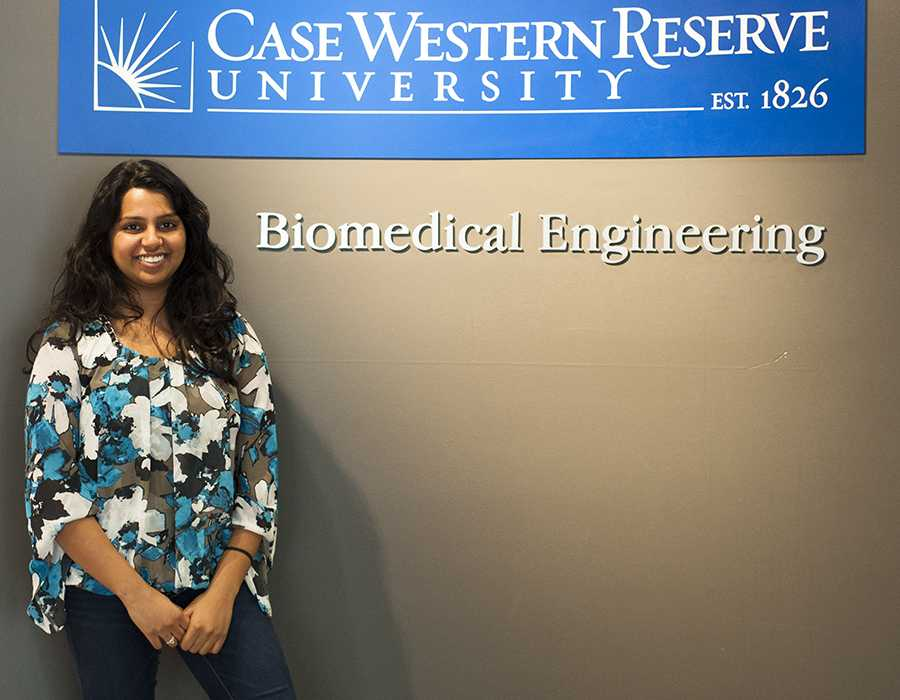 Senior Shruti Sudhakar is currently working on a project to lessen tissue damage caused by the implantation of electrodes into the brain.