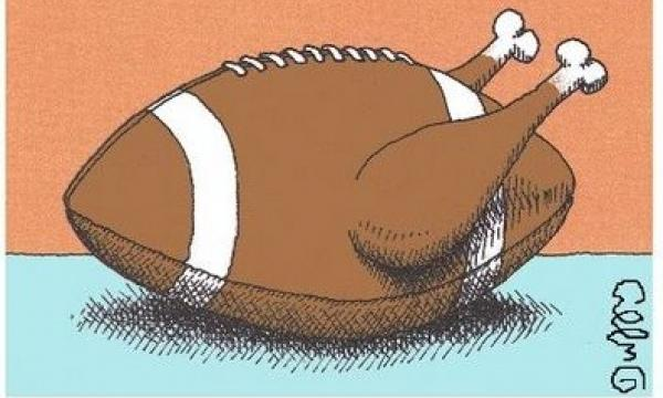 Thanksgiving: Time of togetherness, time of tackles