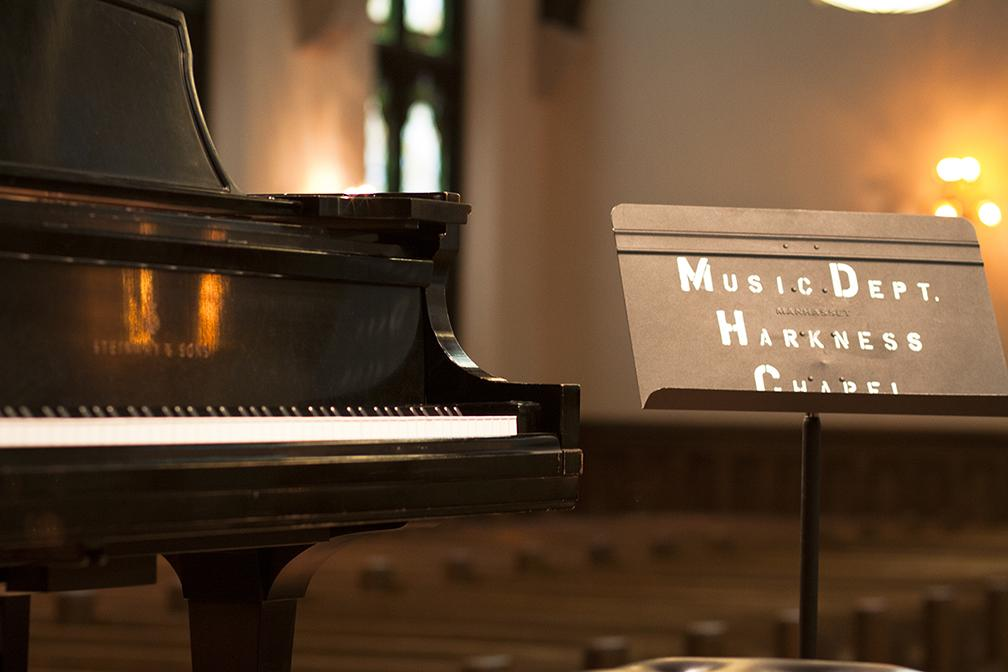 During normal business hours, students and faculty use Harkness Chapel for class and performances. Arts After Dark opens the Chapel's doors for all students to celebrate the performing arts.
