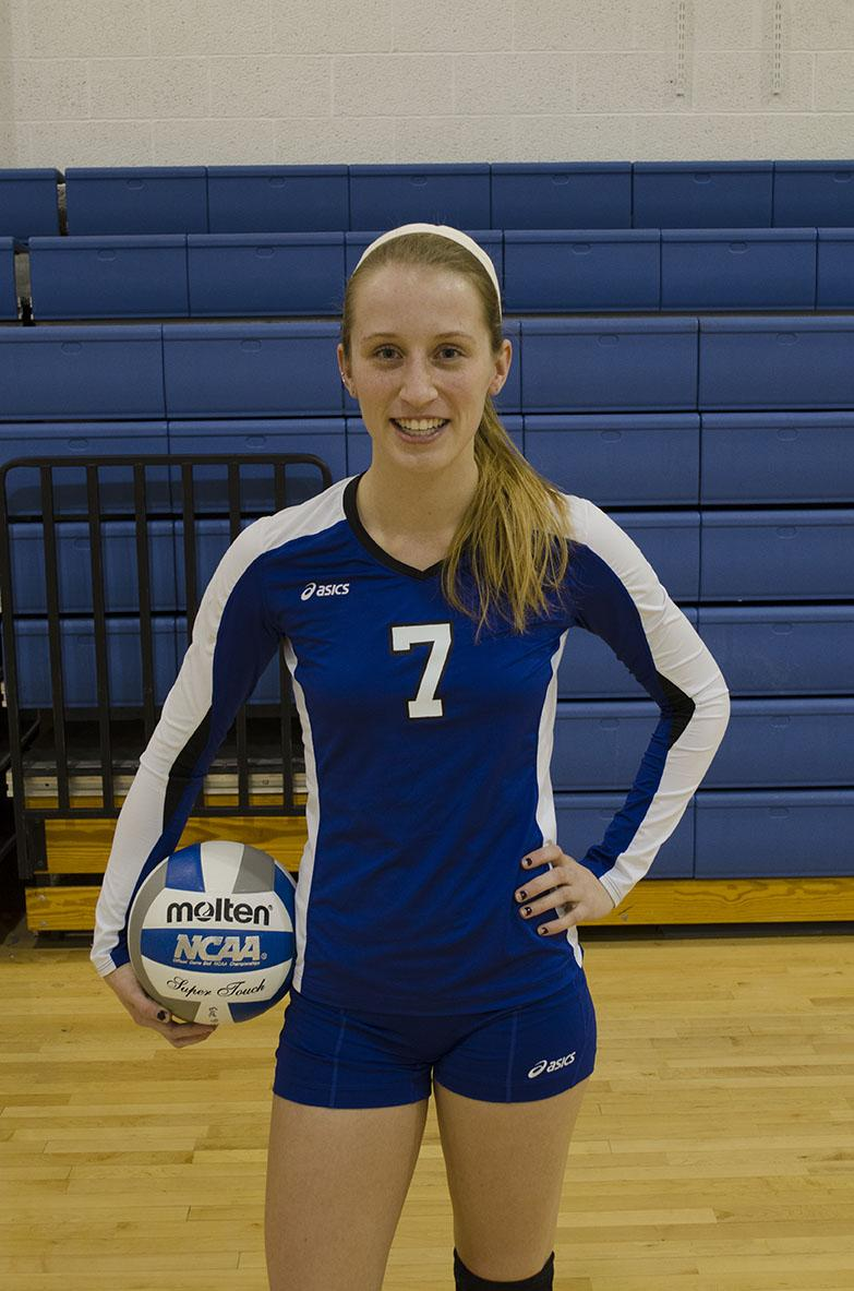 Katie Best is in her second season, her first as the team's starting libero.