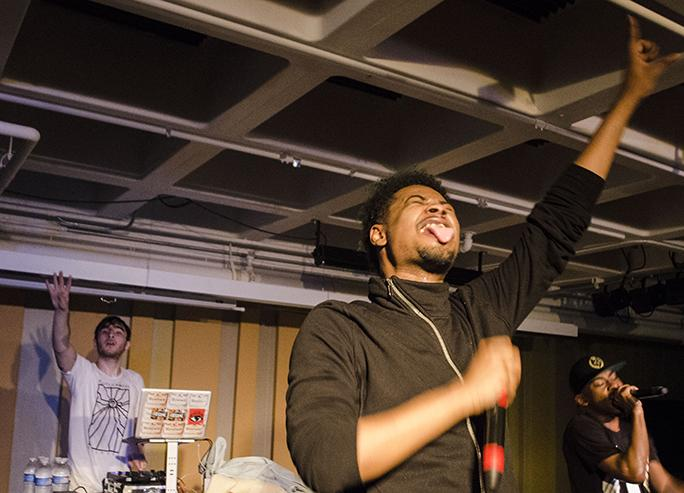Rapper Danny Brown performs at his explosive Spot Night show.