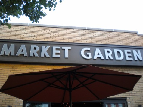 The front of Market Garden Brewery, Cleveland's first self-proclaimed beer garden.