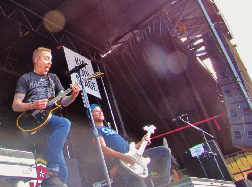 Yellowcard performs as a headliner at Warped Tour 2014, which swung by Blossom Music Center on July 17.