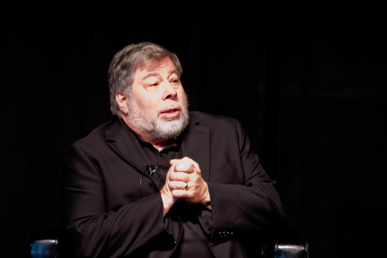 Apple co-founder Steve Wozniak spoke to students about embracing creativity.