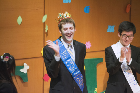 While the competition was stiff, the Mr. CWRU pageant brought out only one winner.  Junior Charlie Topel (left) captured the top spot with a raunchy comedy routine.