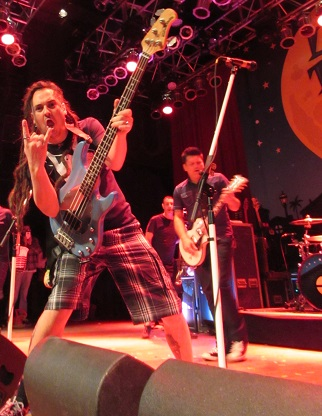 Less than Jake, a ska band which has maintained its energy for over 20 years, ended the ecstatic night at Cleveland's House of Blues.