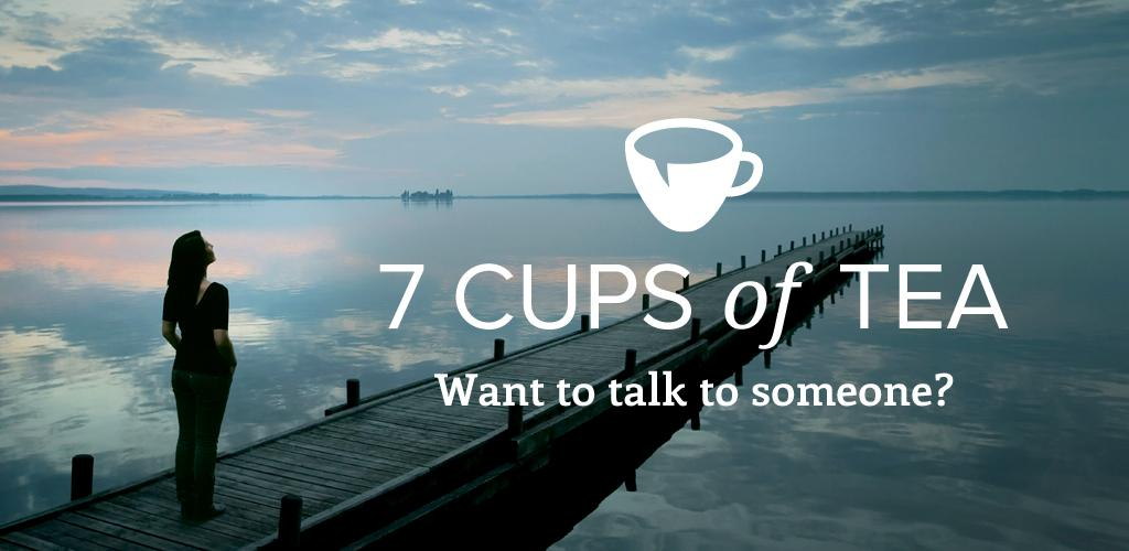 7 Cups of Tea is an app that provides anonymous talk therapy