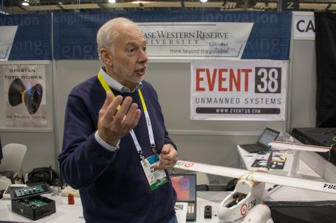 Event38 was eager to talk about its work with drones at CES.