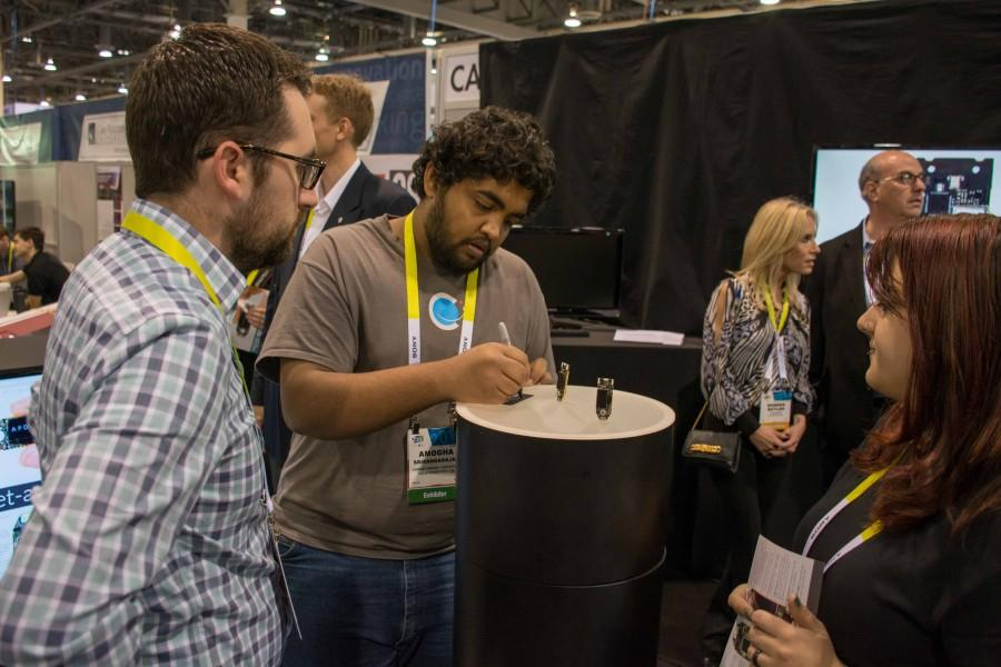 CEO Amogha Srirangarajan provides an inside look to an industry professional at CES 2015.
