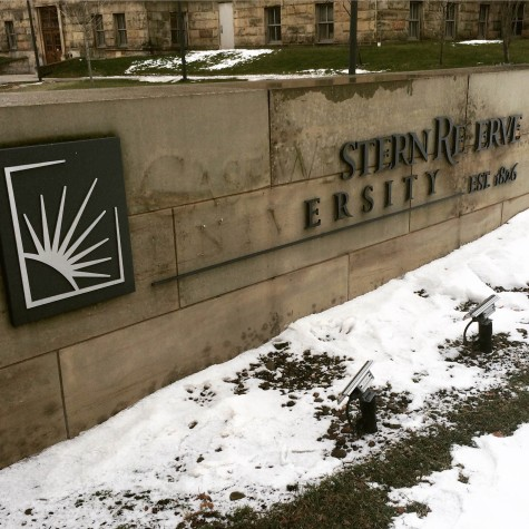 The CWRU signs on Adelbert Road were vandalized by three separate groups over a two-day period.