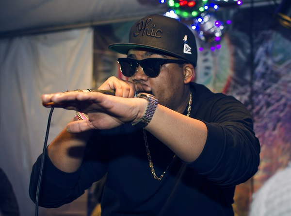 Archie Green put on an energetic rap show as one of the performers at Brite Winter.