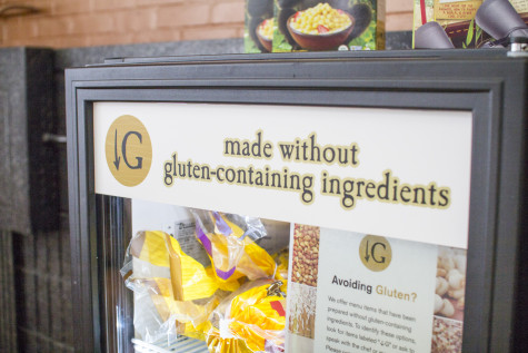 Currently some gluten-free options are  available in separate fridges for students.