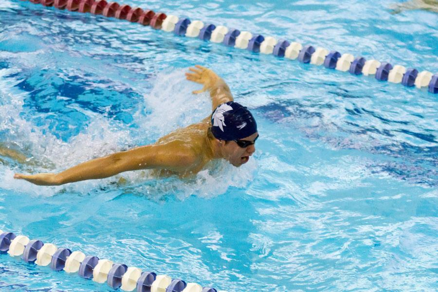 Spartan swimmer in meet at Veale earlier in season.