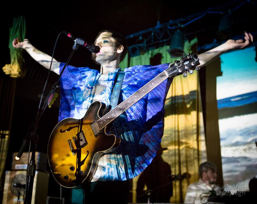 Of Montreal put on a psychedelic show, with an emphasis on fashion and stage lighting.