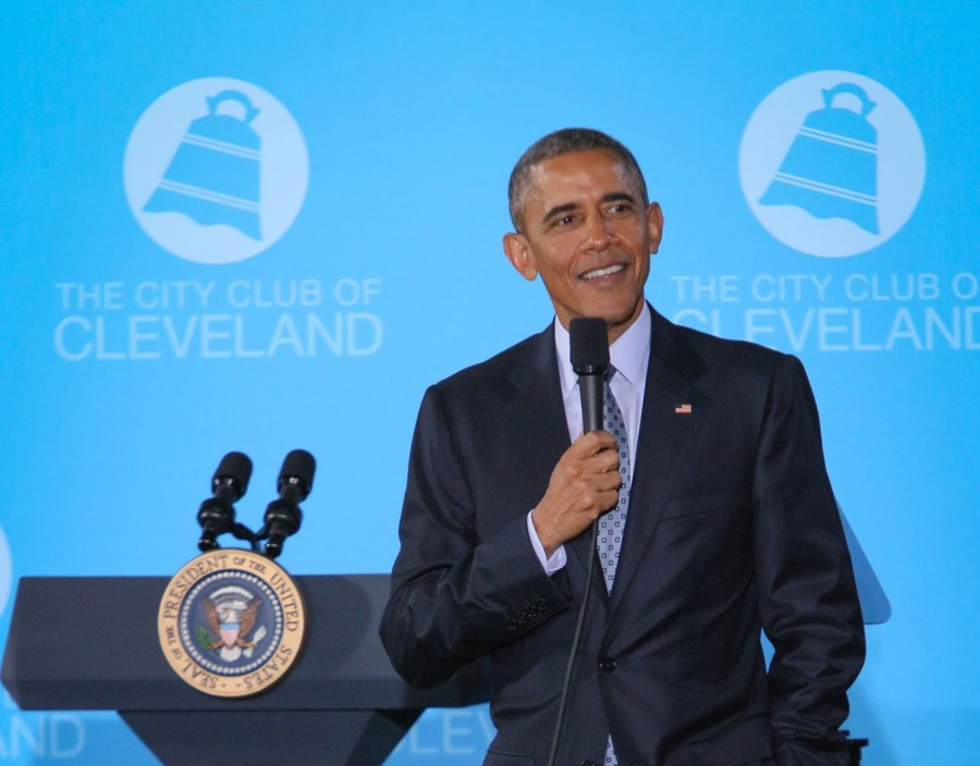 President+Obama+spoke+at+the+City+Club+on+March+18.+He+talked+about+his+new+policies+regarding+middle-class+economics%2C+as+well+as+the+importance+of+manufacturing.
