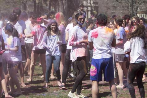 Colors abound as students celebrate the ancient tradition of Holi.