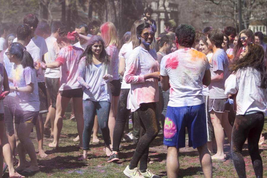 Colors+abound+as+students+celebrate+the+ancient+tradition+of+Holi.