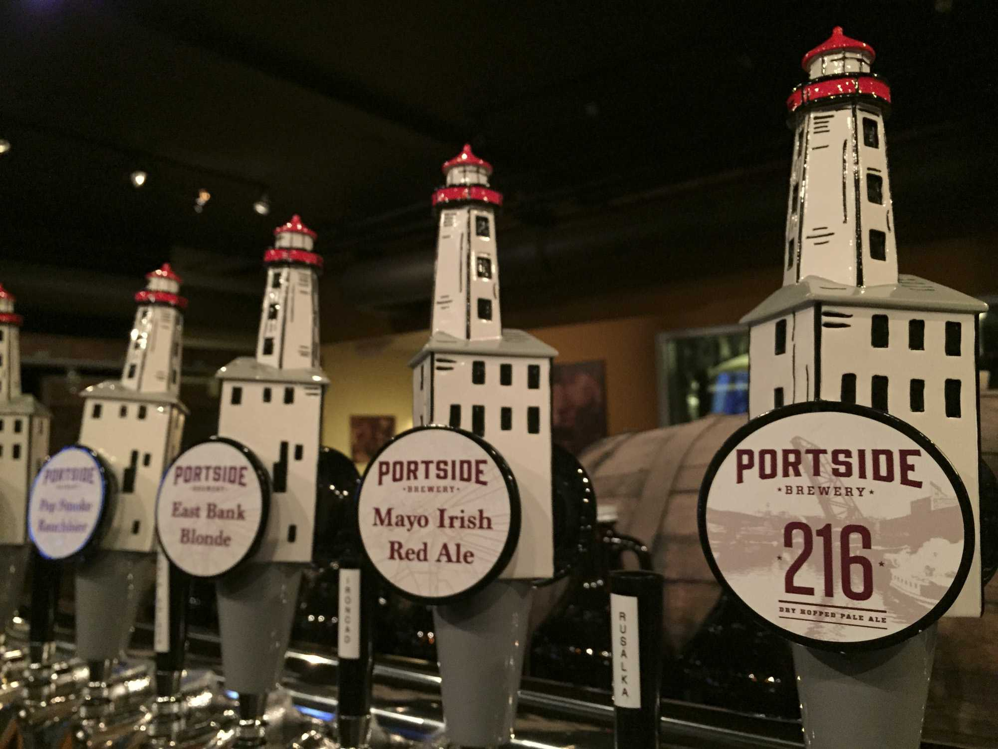 Portside features a variety of beers and also a menu of mixed drinks, combining unlikely flavors into unique cocktails.