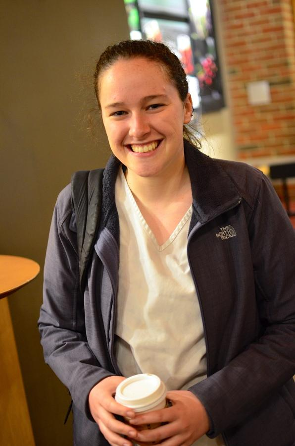 Senior nursing student Katie Broderick studies what effect transports can have on patients' health.