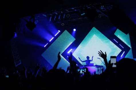 Madeon's music and his vibrant light show hyped up the crowd at the House of Blues last week.