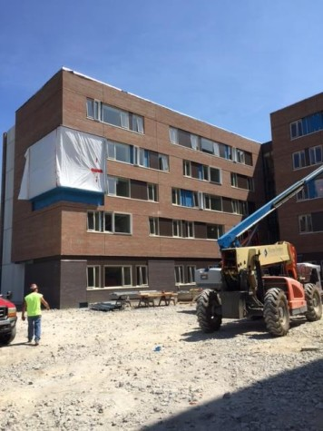 New residence hall still heading for Sept. 12 move-in date