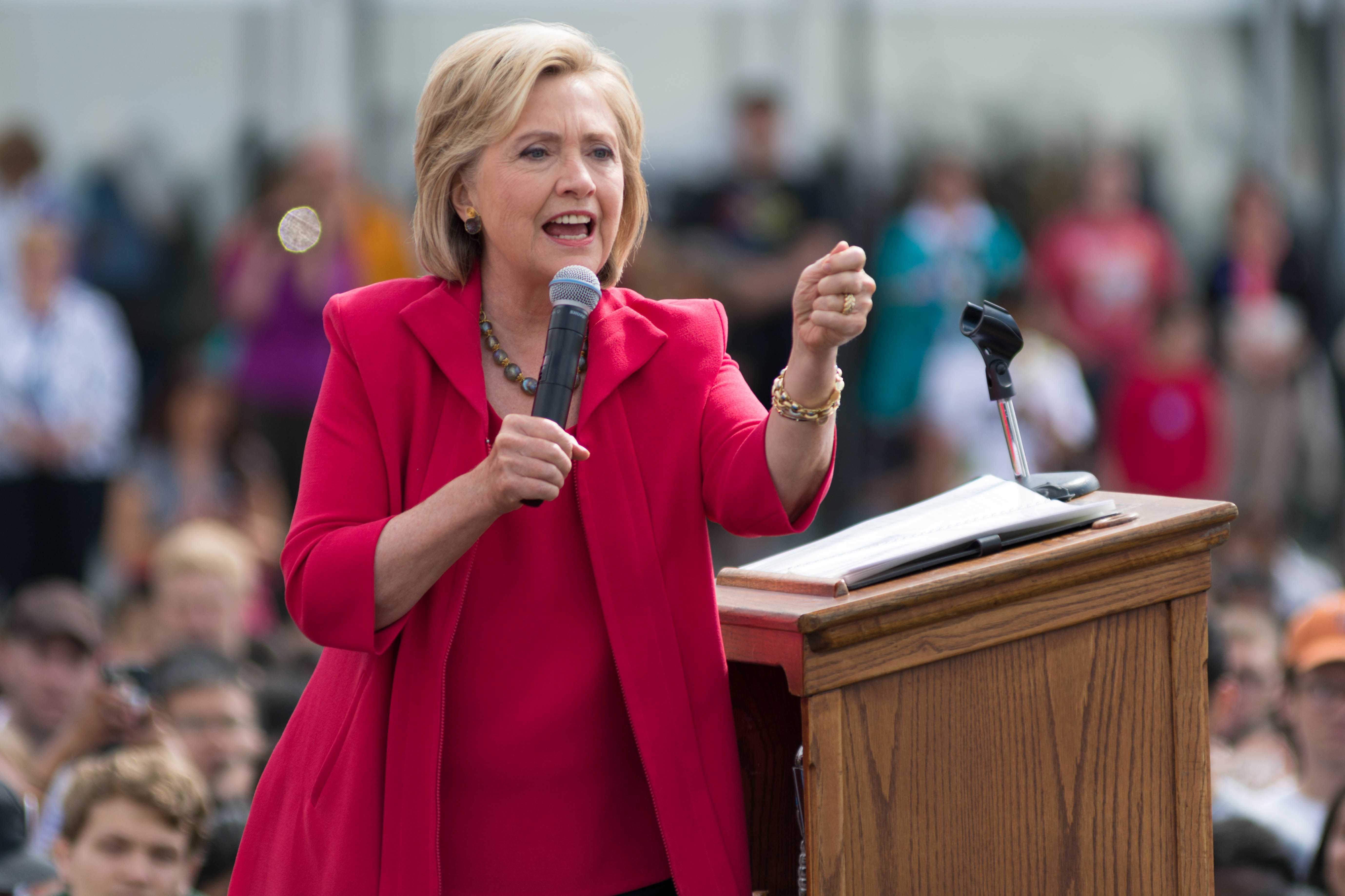 Democratic presidential candidate Hillary Clinton spoke at CWRU on Aug. 27.