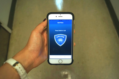CWRU Shield gives callers' location, according to GPS or the Indoor Positioning System, to emergency services when they use the app to place a call.