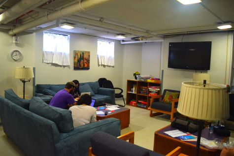 The only Commuter Lounge is located in the basement of Thwing.