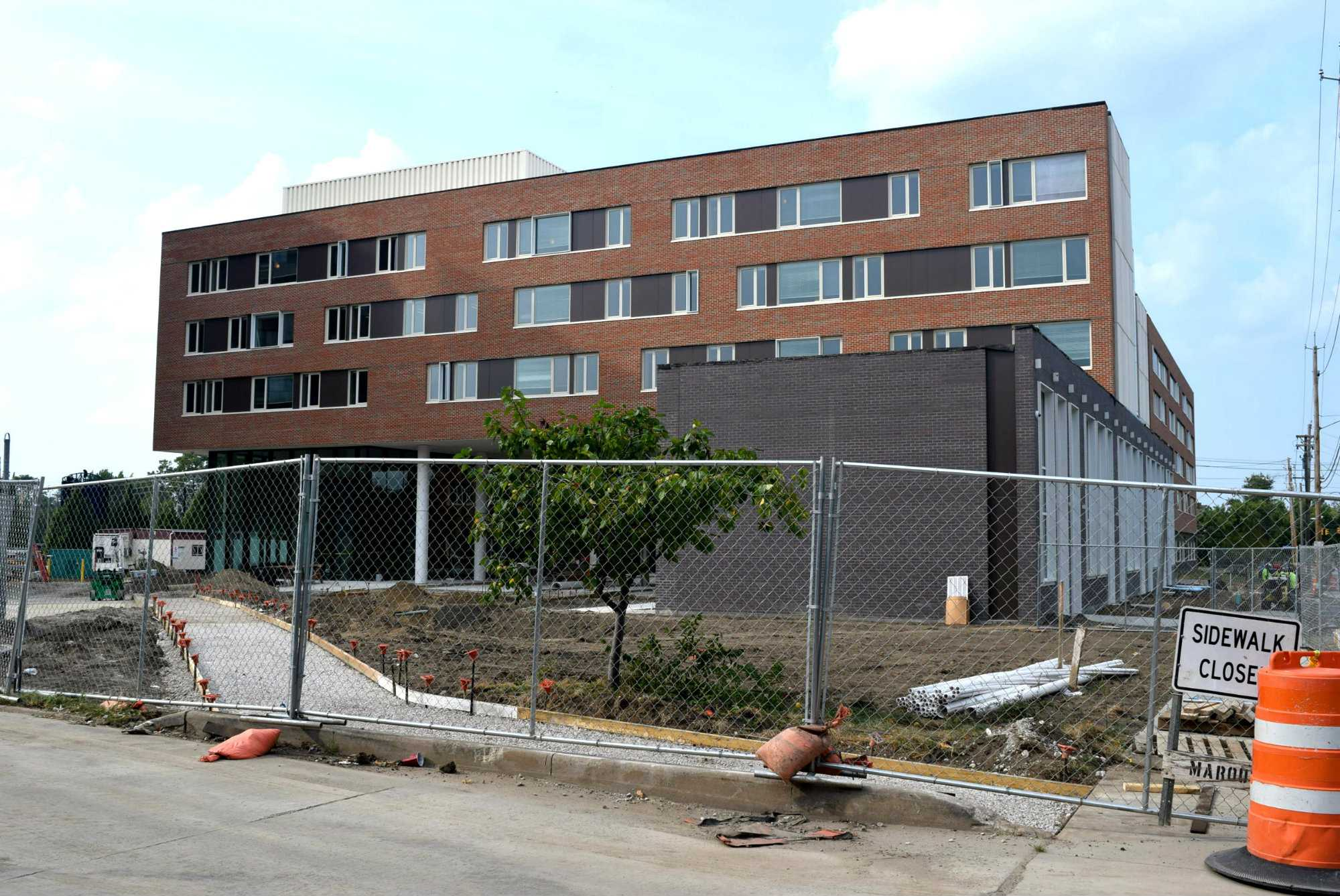 Students who have spent the beginning of the school year in hotels or other temporary accomodations will be able to move into their rooms in the new residence hall on September 12.