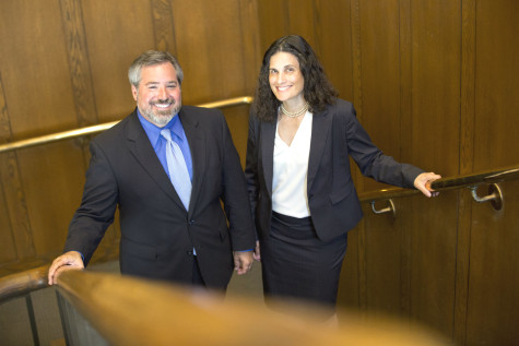 Jessica Berg and Michael Scharf, former interim deans, have been named the new Law School deans.
