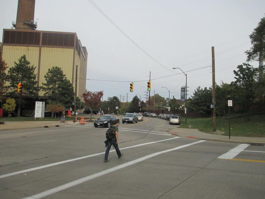 CWRU requested traffic lights at this intersection years ago, and the city of Cleveland recently installed them.