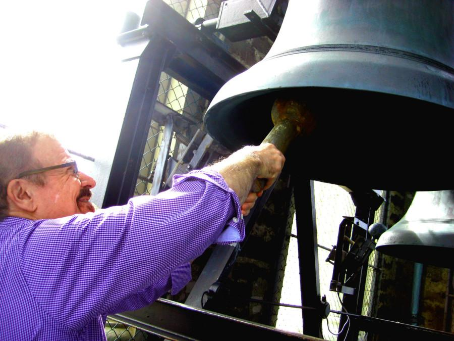 George Leggiero has been playing the McGaffin Carillon for 42 years. In the 1980s, Friends of the McGaffin Carillon President Denise Horstman woke up on Sundays to the sound of him performing.