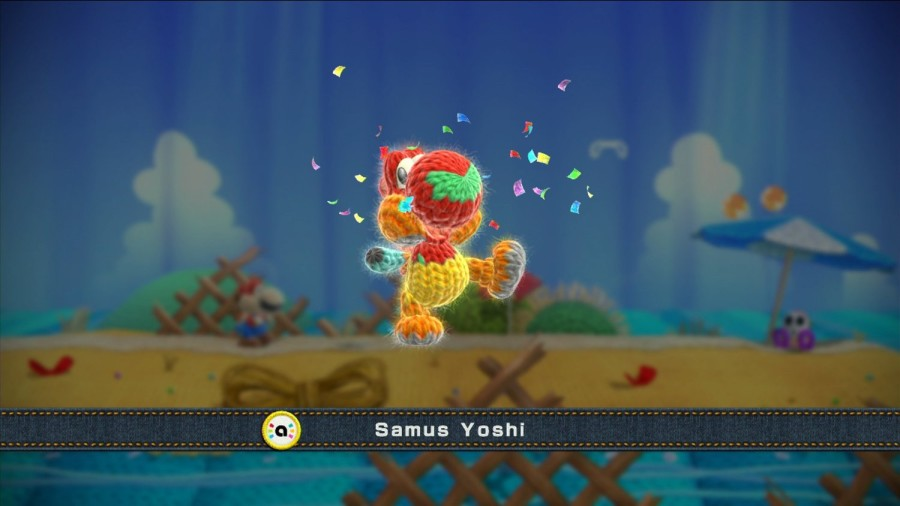 Yoshi, as well as his surroundings, have a handmade look in this Nintendo game.