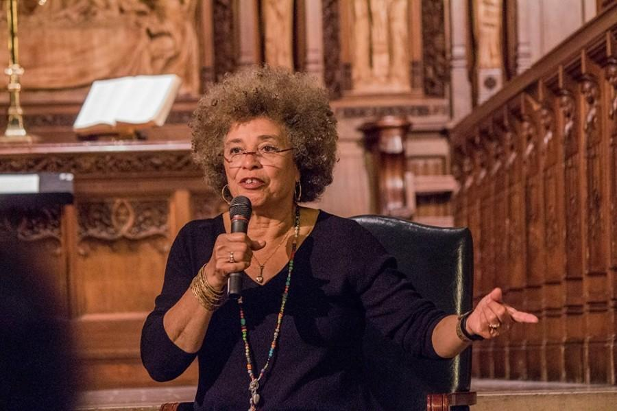 Activist Angela Y. Davis speaks against state violence