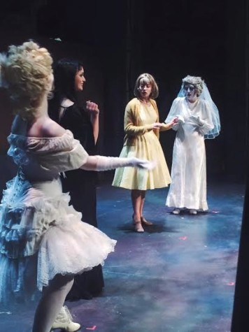 The eccentric but morose Addams Family clashes with the normal world in the Theater Department's current musical.