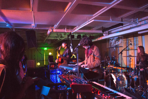 Synthpop band Neon Indian played to a large group of students at this month's Spot Night.