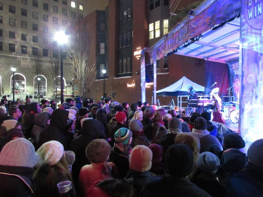 Bands at Brite Winter performed for huge crowds in Ohio City despite freezing February temperatures.