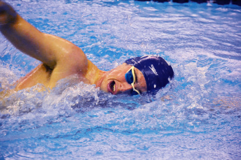 "Fourth-year CWRU distance free swimmer Felipe Gomez del Campo was named to ""Forbes"" magazine's 30 Under 30 list in the energy category. He juggles his startup with coursework and varsity swimming."