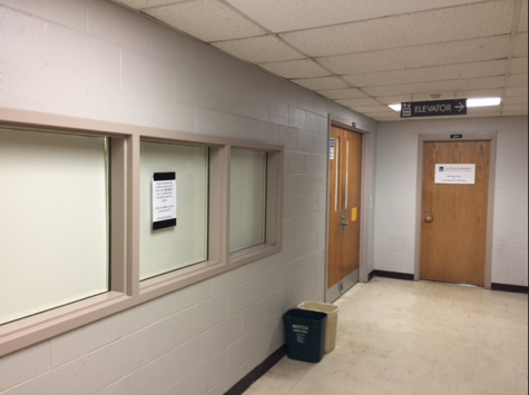 The windows which once allowed visitors to see inside think[box] labs are now usually covered to protect confidential research.