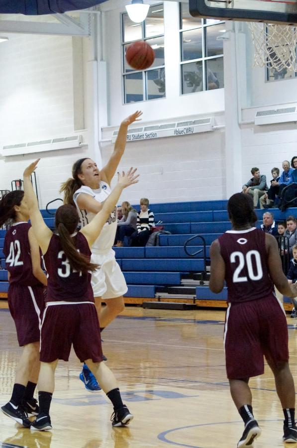 Fourth year Laura Mummey helped lift the Spartans to victory over Emory in her final home game.