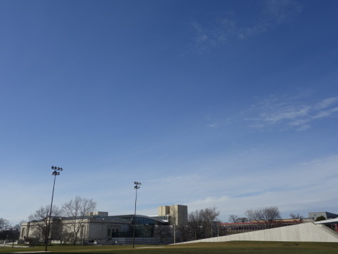 A sunny sky over Freiberger Field in the middle of winter on Feb. 21. High ground's secret gives hope even when things are at thier bleakest.