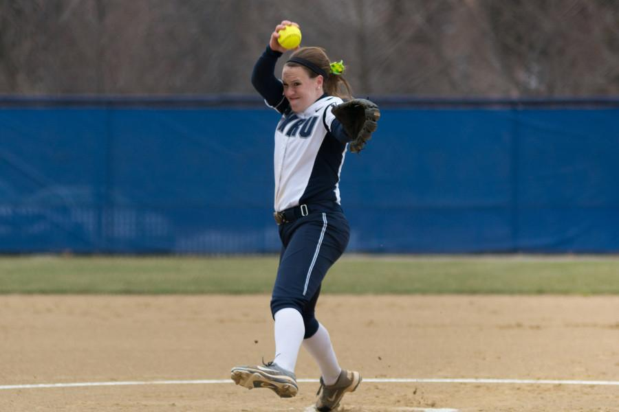 Annie+Wennerberg+pitched+a+solid+game+for+the+Spartans+against+Ohio+Northern%2C+a+big+help+for+the+Spartans+in+sweeping+the+Polar+Bears.+