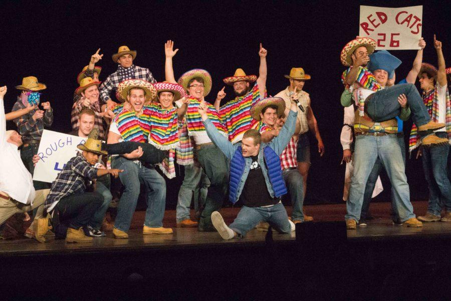 A controversy over Phi Delta Theta's Greek Week Variety Show skit, pictured, led to a university-wide email from President Snyder, who elaborated on her thoughts in an interview with The Observer.