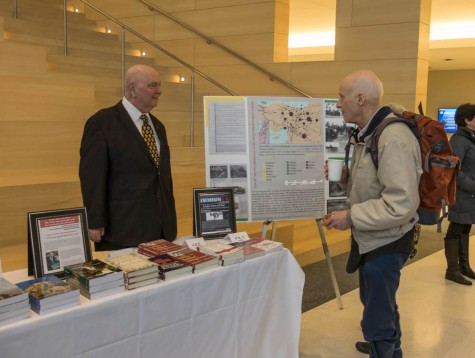 Dr. Richard Hovannisian (left) after his presentation as part of the Cleveland Humanities Festival.