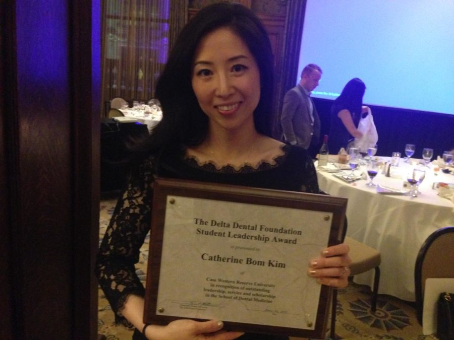 Catherine Kim, a 2016 dental school graduate, just received the prestigeous Student Leadership Award for $2,500 from the Delta Dental Foundation.