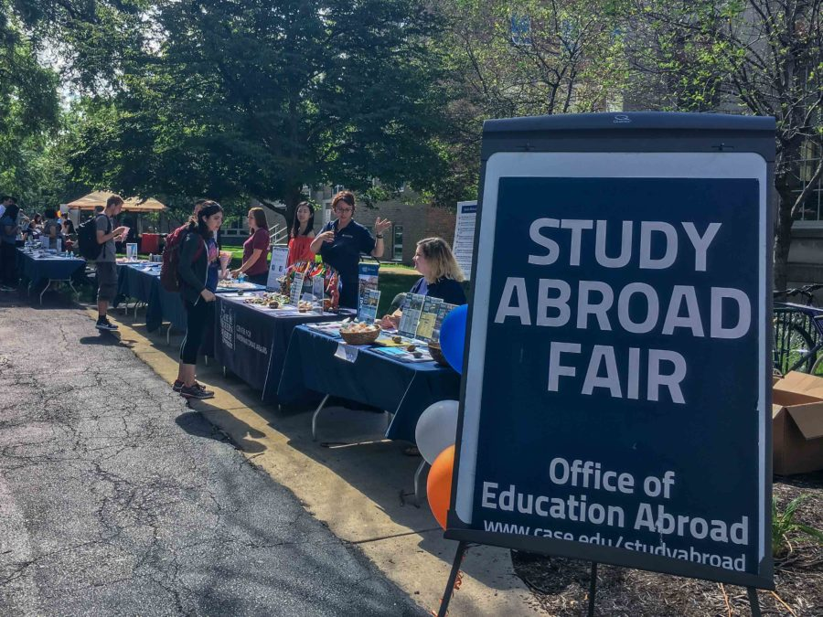 The study abroad fair was hosted on Sept. 9 on the quad, exposing students to various study abroad opportunties.