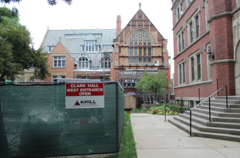 the renovation of Clark Hall aims to restore the building to its state in 1892.